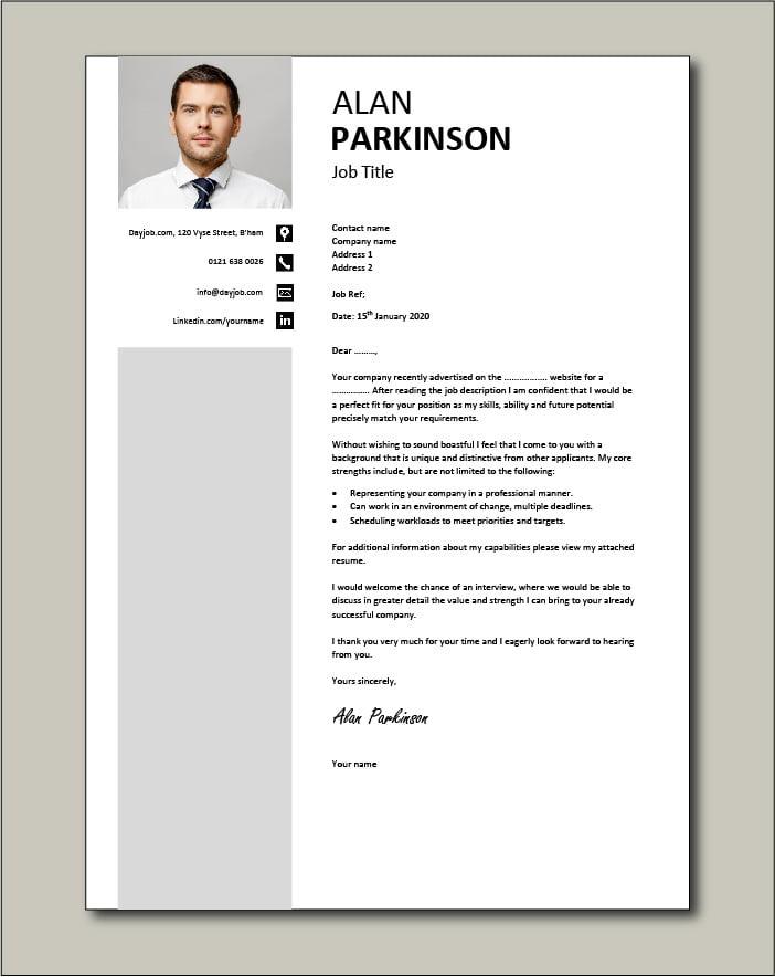 CV template 33 - cover letter