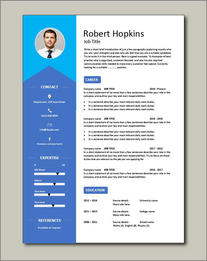 CV template 37 - 1 page