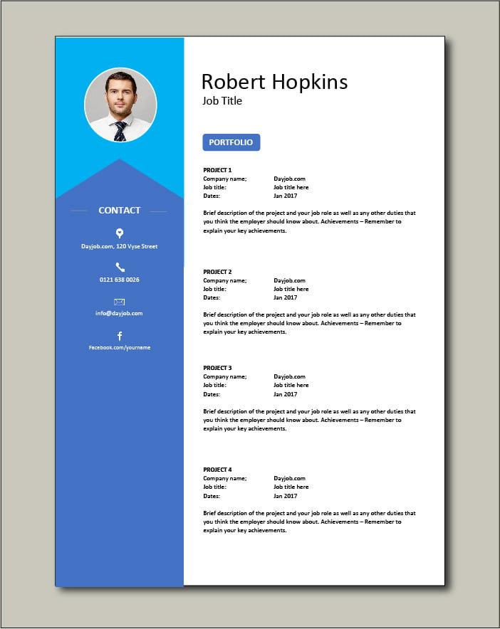 CV template 37 - Portfolio