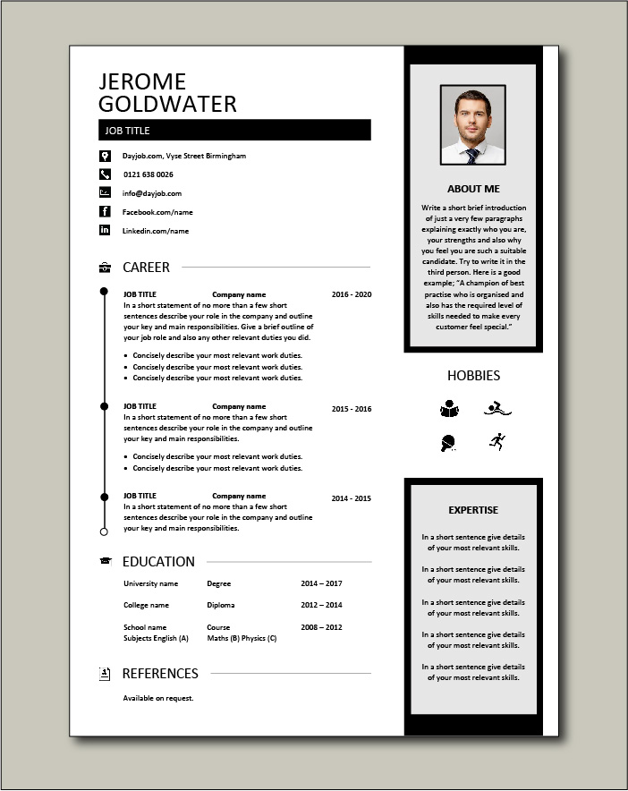 CV template 39 - 1 page