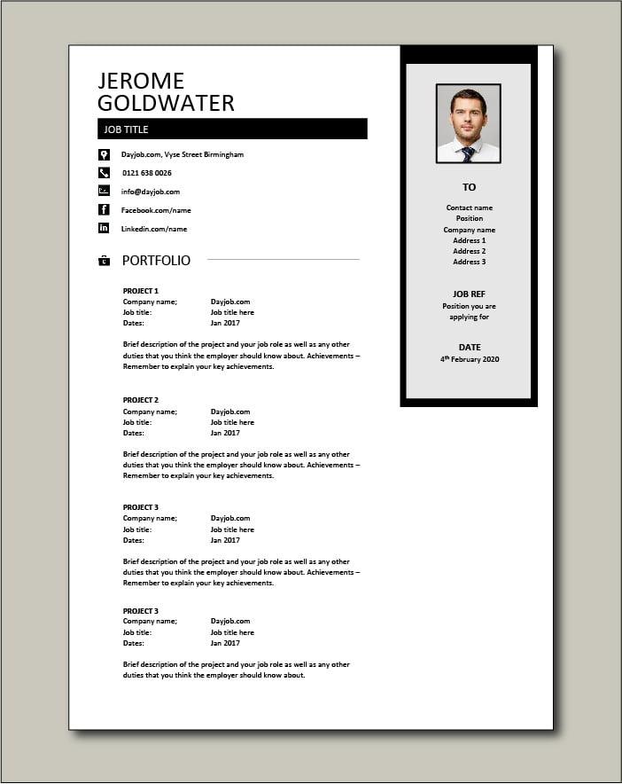 CV template 39 - Portfolio