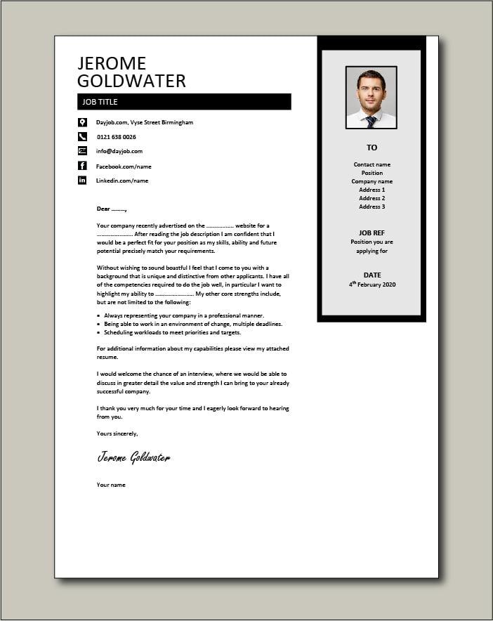 CV template 39 - cover letter