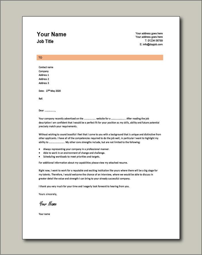 CV template 4 - Cover Letter