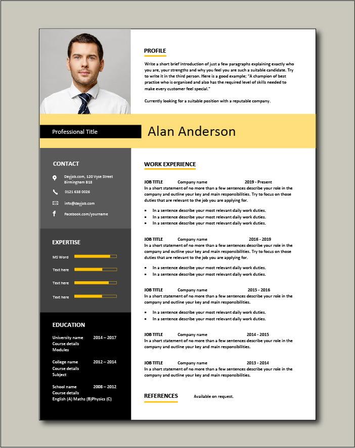 Free CV template 21