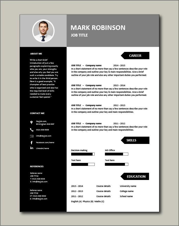 Free CV template 22