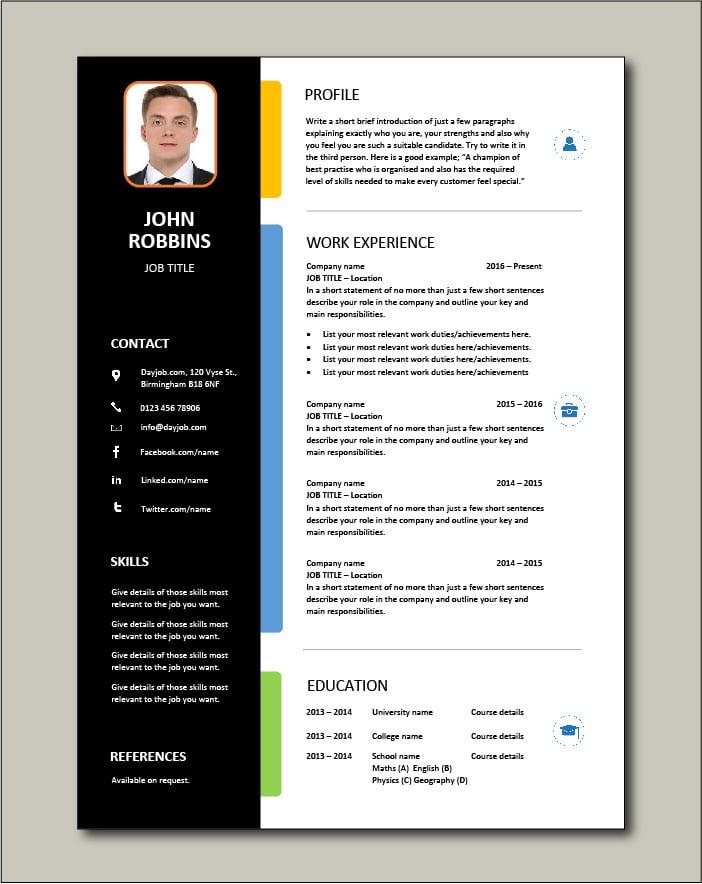 Free CV template 25