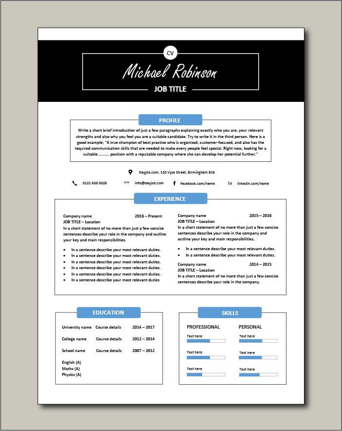 Free CV template 30