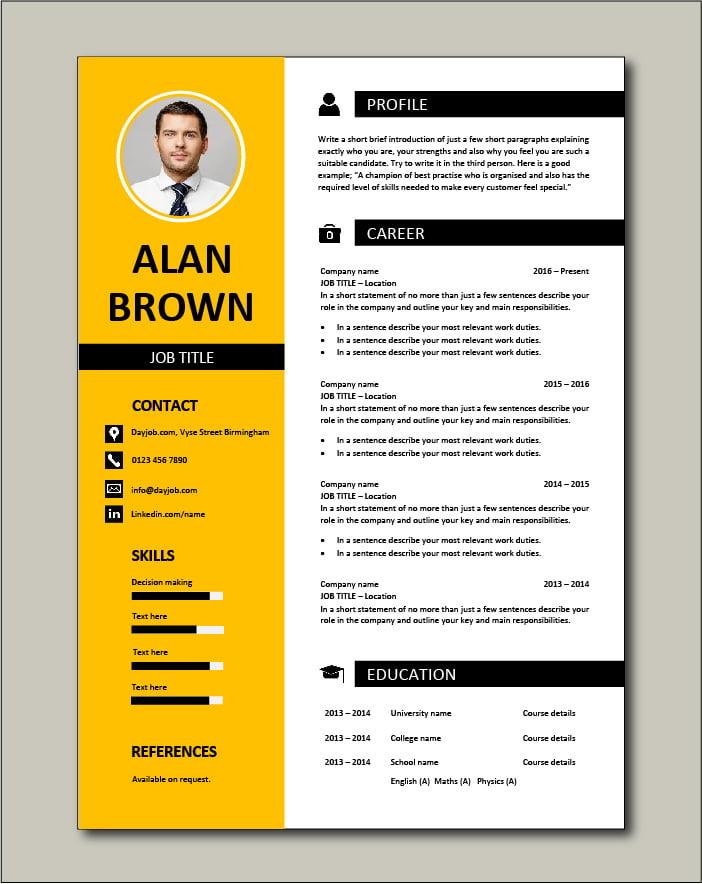 Free CV template 31