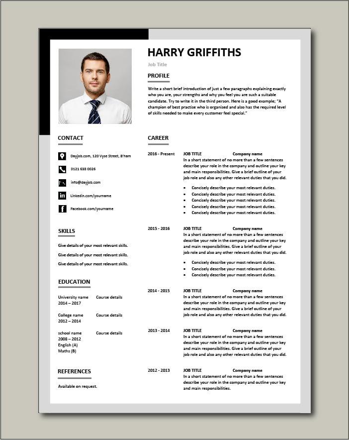 Free CV template 32