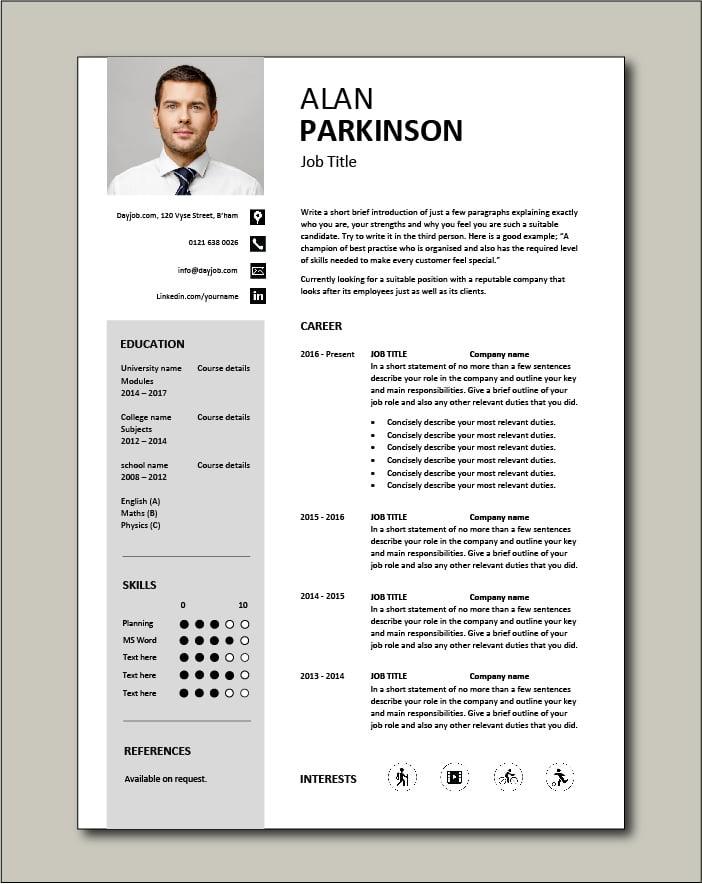 Free CV template 33