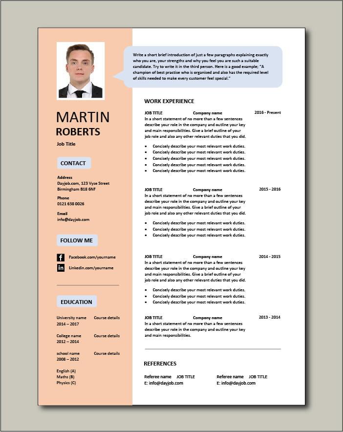 Free CV template 34