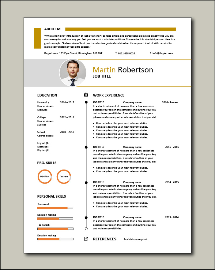 Free CV template 35