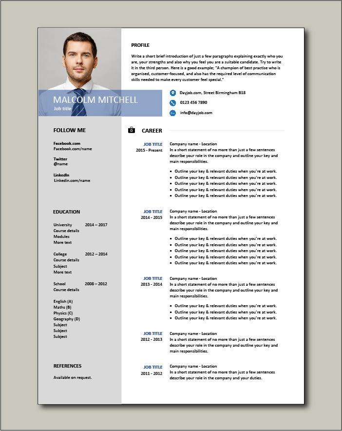 Free CV template 38