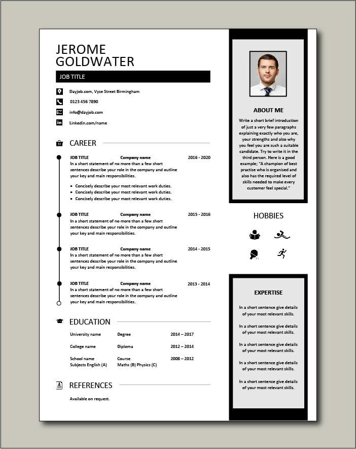 Free CV template 39