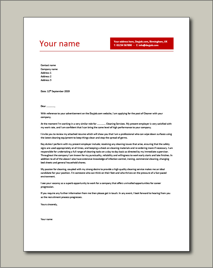 postal service cover letter examples