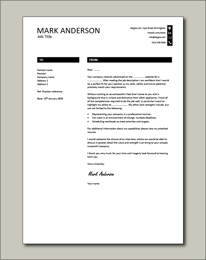 Free Cover letter example 18