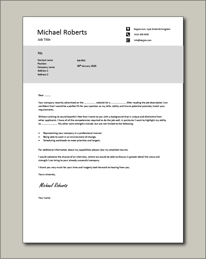 Free Cover letter example 21