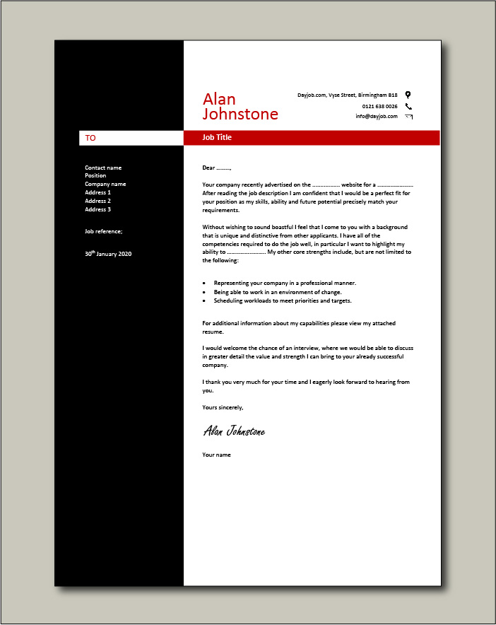 Free Cover letter example 23