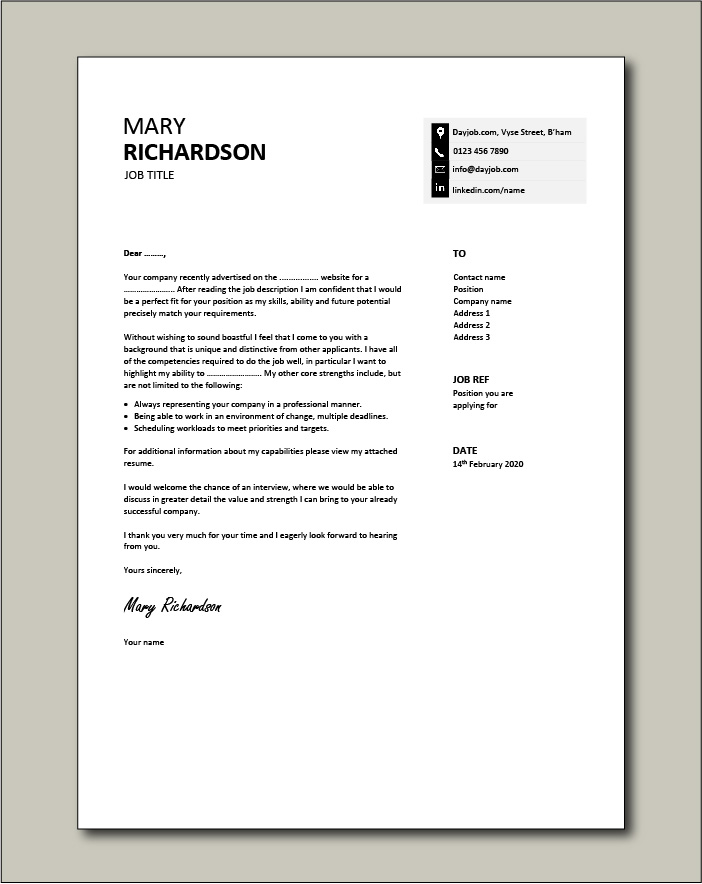 Free Cover letter example 29