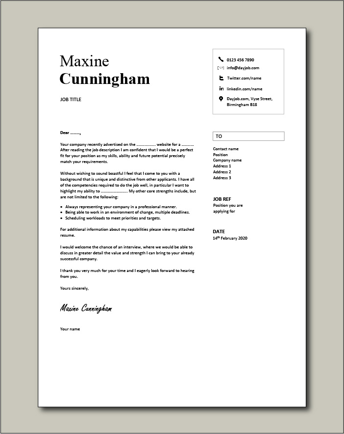 Free Cover letter example 31
