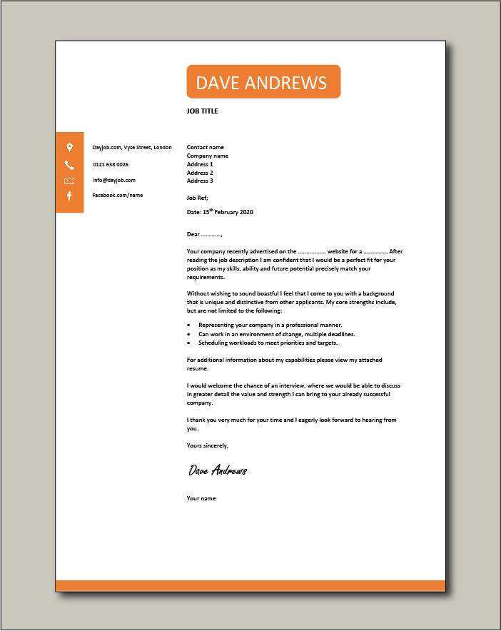 Free Cover letter example 32