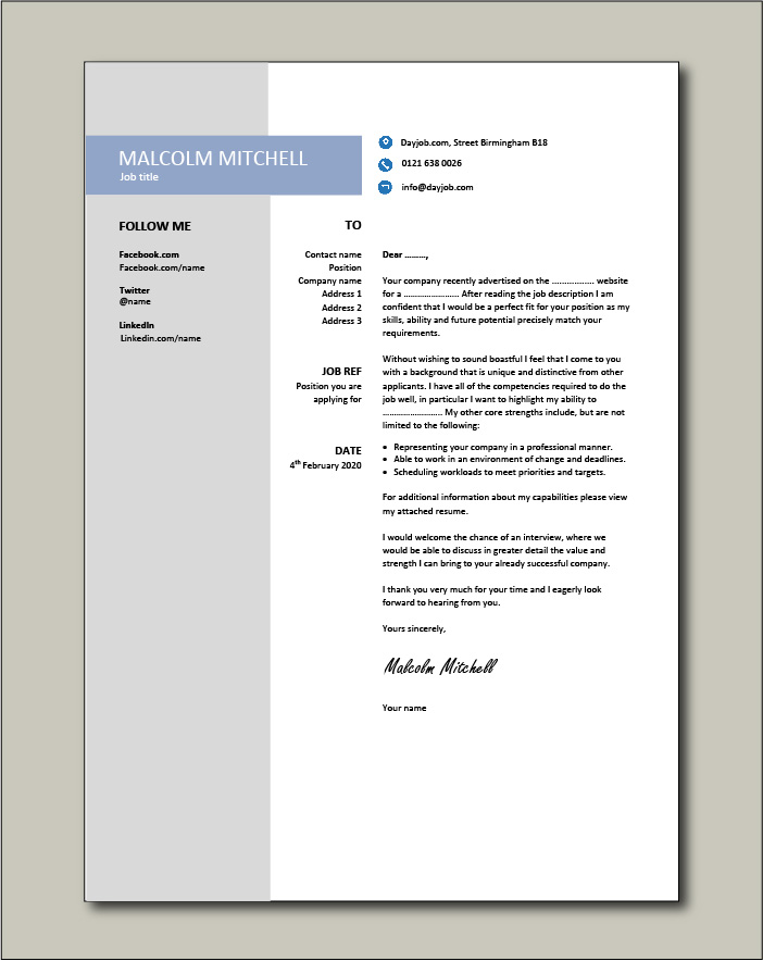 Free Cover letter example 33