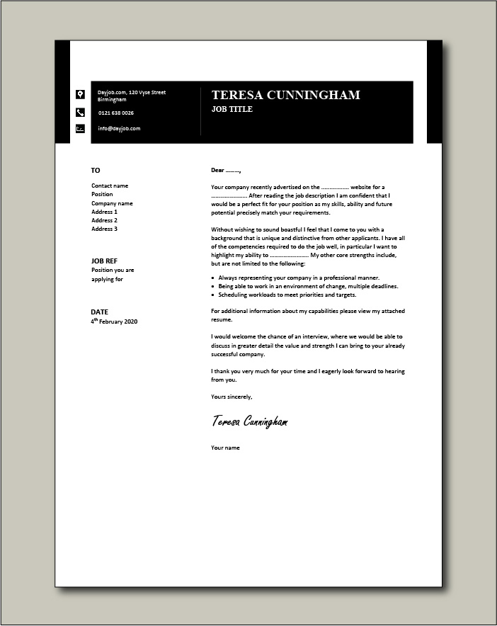 Free Cover letter example 34