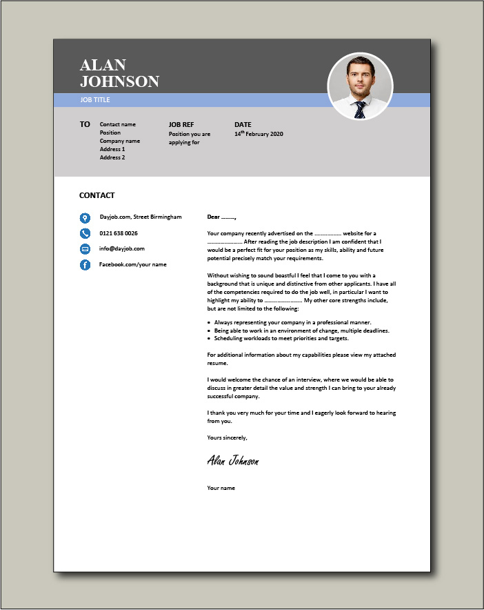 Free Cover letter example 35