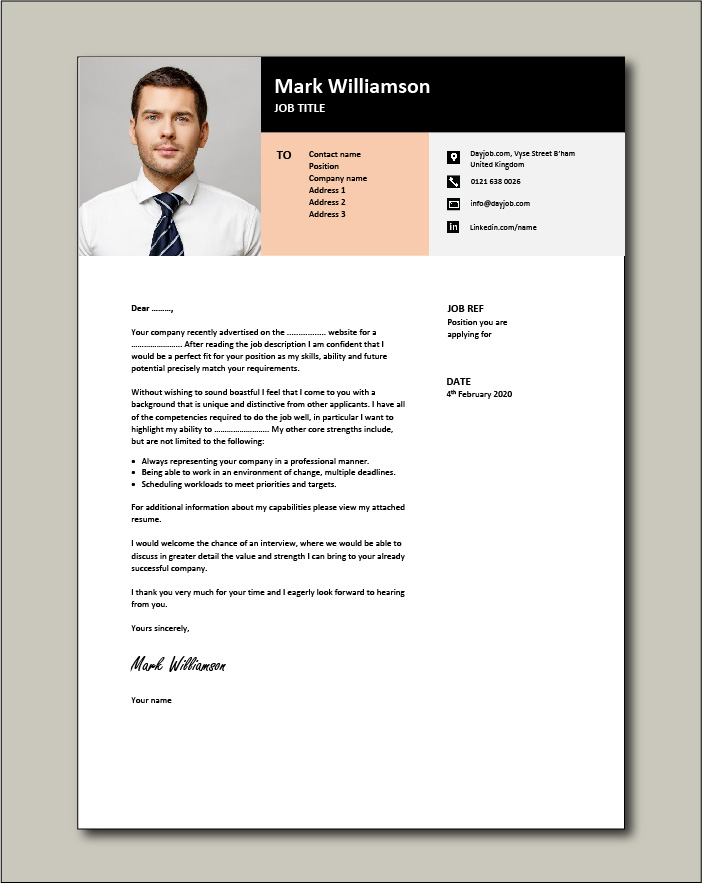 Free Cover letter example 36