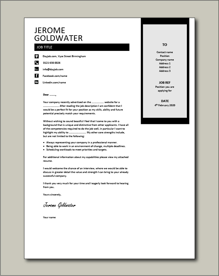 Free Cover letter example 37