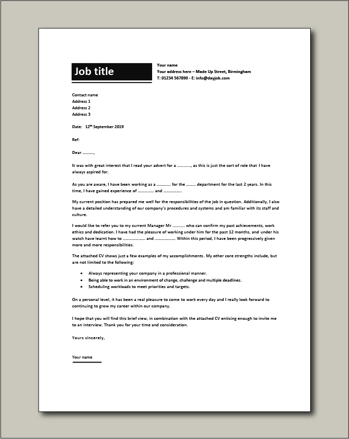 Letter Of Interest Examples from www.dayjob.com