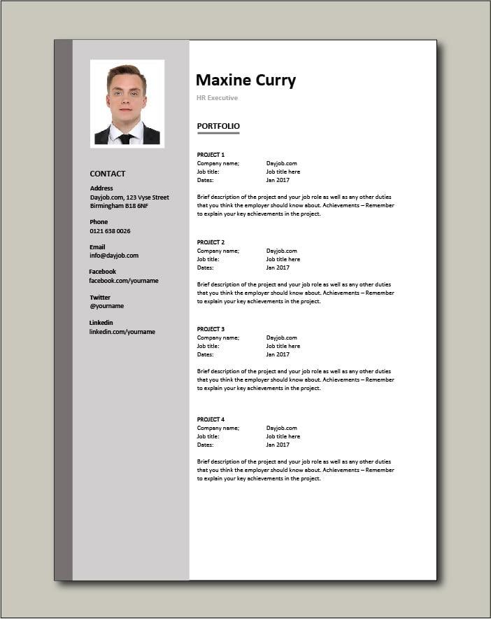 HR Executive CV - Portfolio