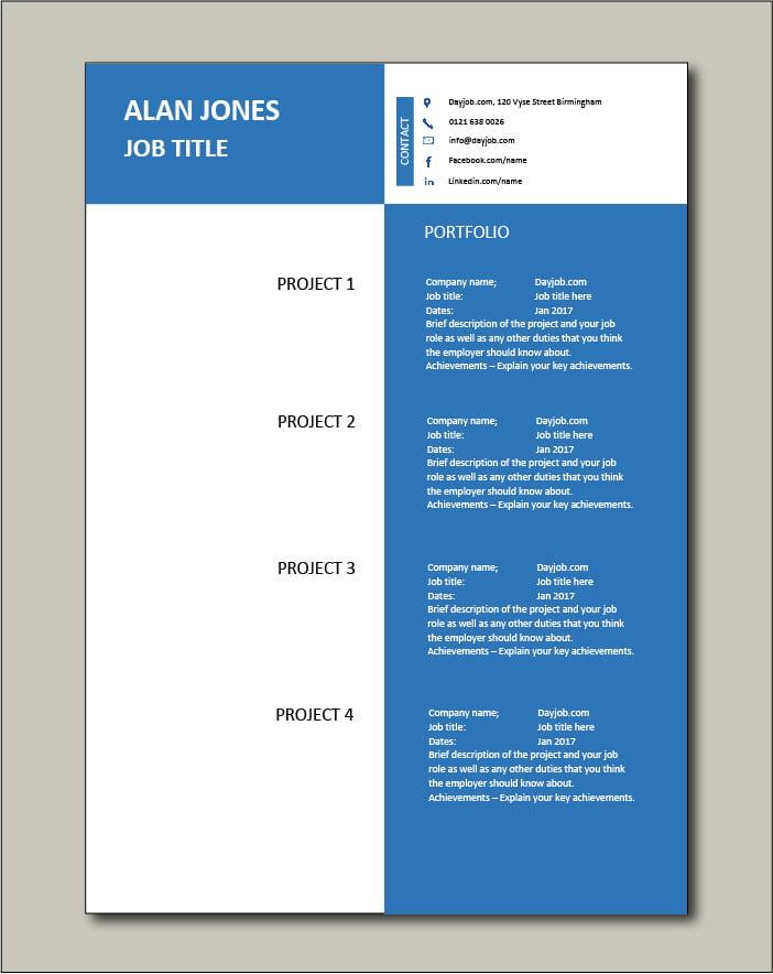 CV template 41 - Portfolio