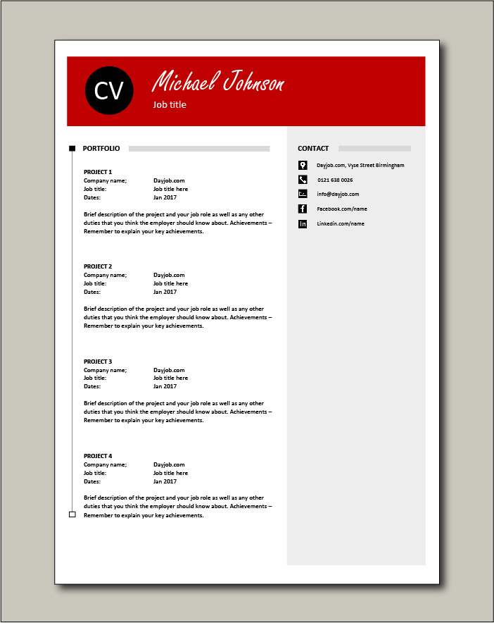 CV template 42 - Portfolio
