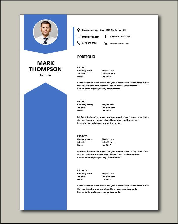 CV template 43 - Portfolio