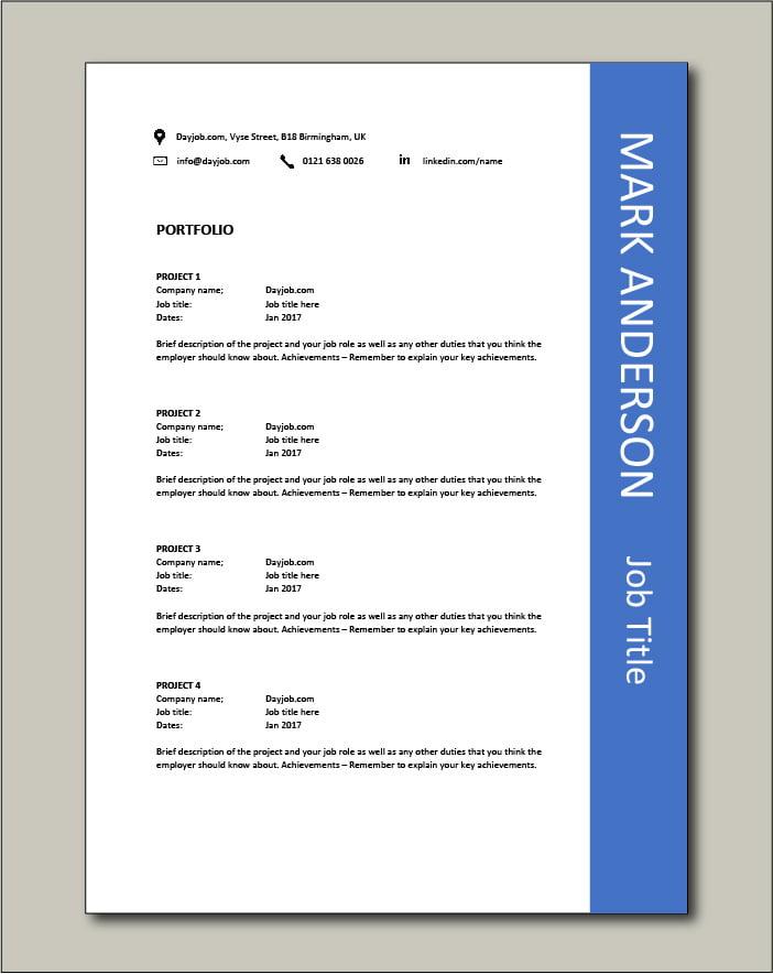 CV template 44 - Portfolio