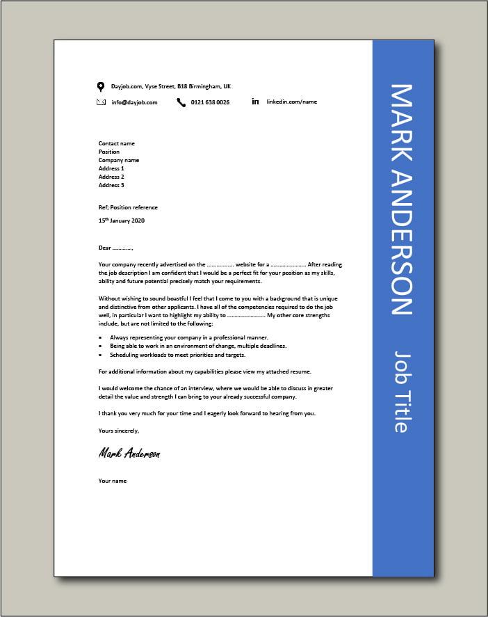 CV template 44 - cover letter