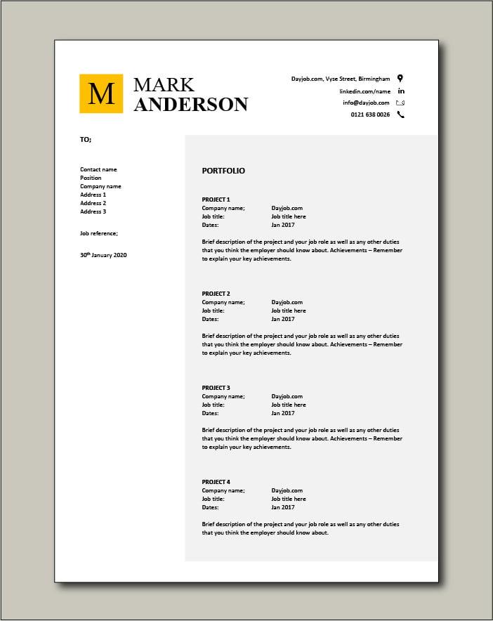CV template 45 - Portfolio