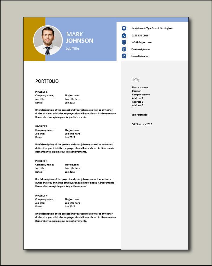 CV template 46 - Portfolio