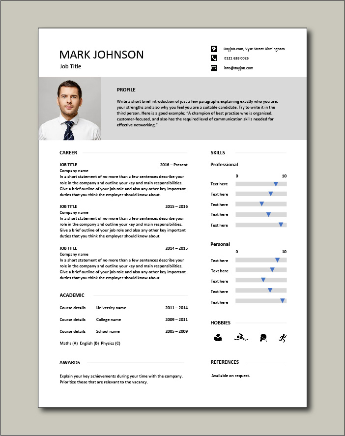 CV template 47 - 1 page
