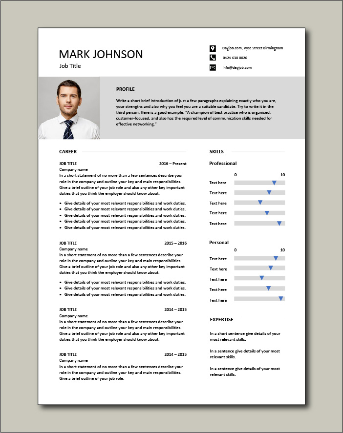 CV template 47 - 2 page