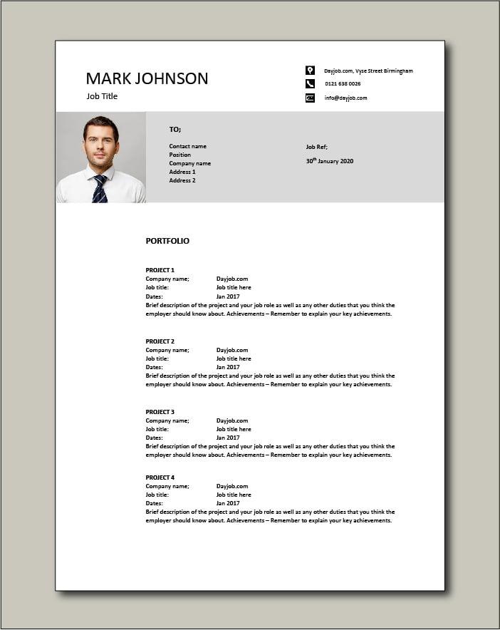 CV template 47 - Portfolio