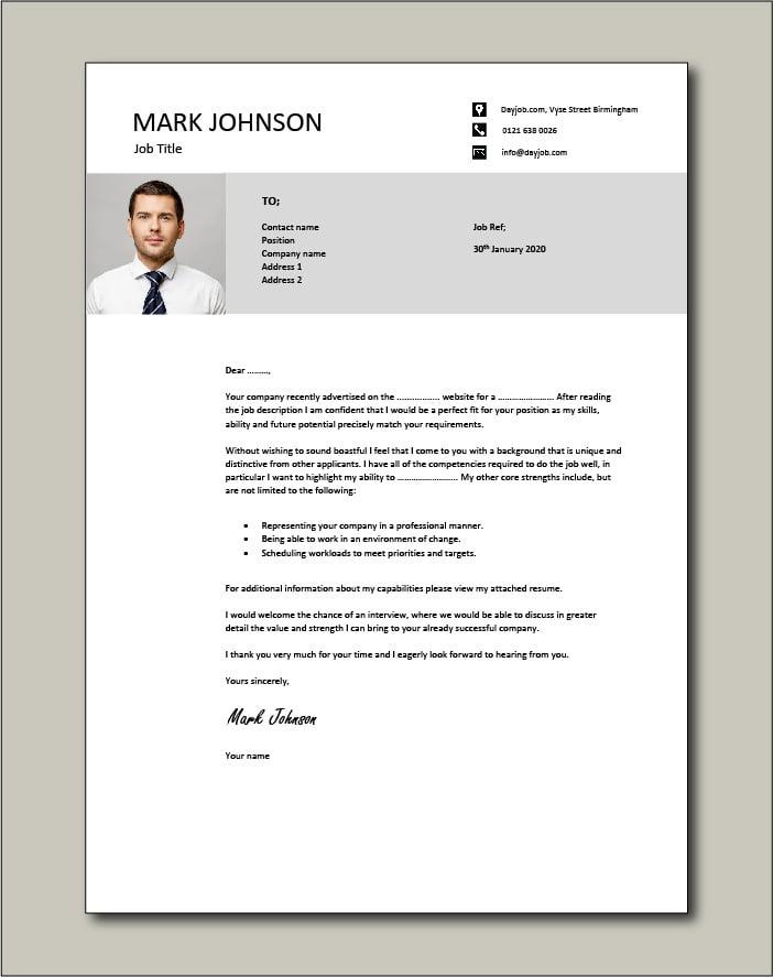 CV template 47 - cover letter