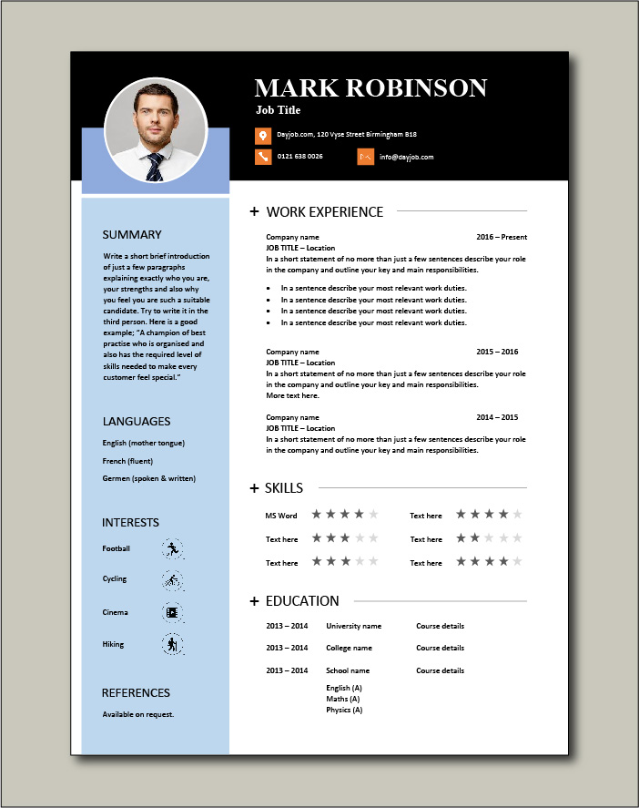 CV template 48 - 1 page