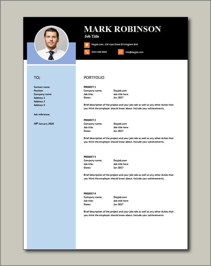CV template 48 - Portfolio