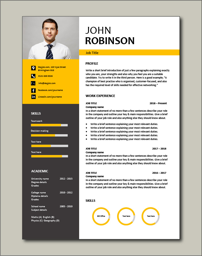 CV template 49 - 1 page