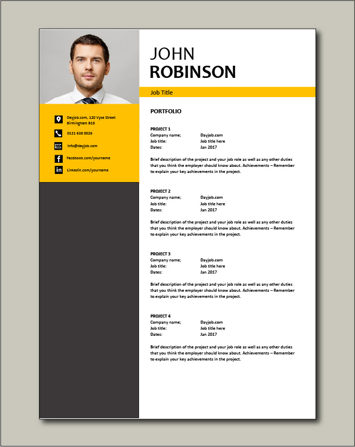 CV template 49 - Portfolio