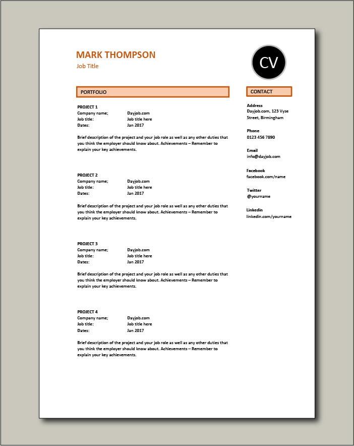 CV template 51 - Portfolio