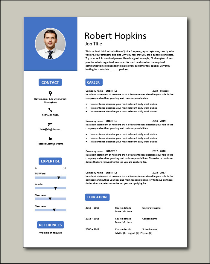 CV template 53 - 1 page