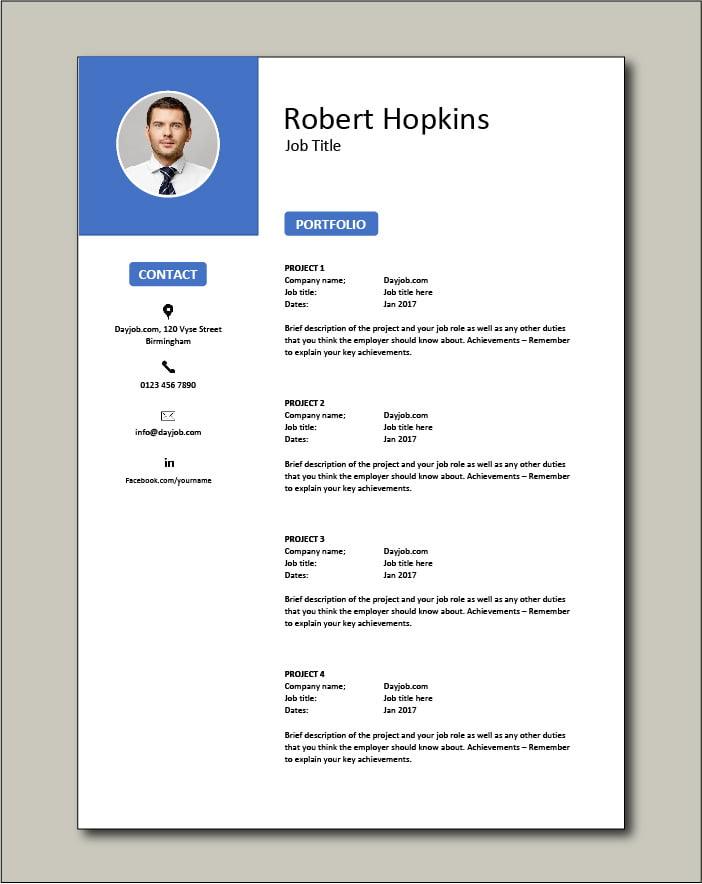 CV template 53 - Portfolio